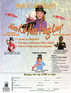 Magic Camp Registration Form 8.5x11