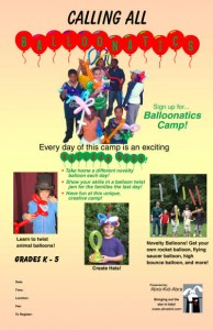 Balloonatics Camp Poster 11x17