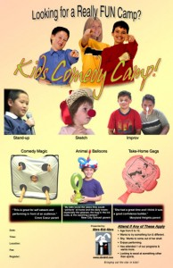 Kids Comedy Camp Poster 11x17