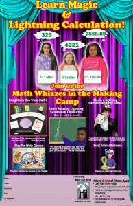 Math Wizards Camp Poster 11x17