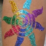 glitter tattoo star